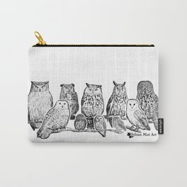 Owls - Ink Drawng Carry-All Pouch