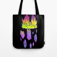 minerals Tote Bags featuring they're minerals by HiddenStash Art