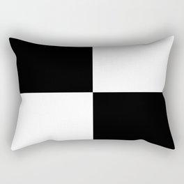 Black & White Squares Rectangular Pillow