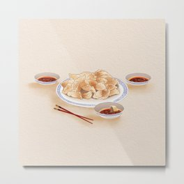 Dumplings Metal Print