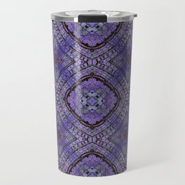Purple Zen Doodle Pattern Travel Mug