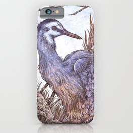 White Faced Heron iPhone Case