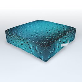 Stylish Cool Blue water drops Outdoor Floor Cushion