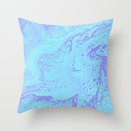Violet and blue #1 Throw Pillow