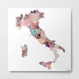 Italia map Metal Print