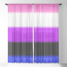 Genderfluid Pride Flag Sheer Curtain