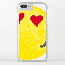 In Love Emoji Marker Clear iPhone Case