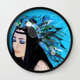 Summer Vibes - Blue Wall Clock