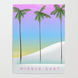 middle east morning rise. Poster