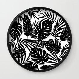 Urban Jungle White Wall Clock