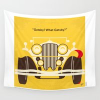 gatsby Wall Tapestries featuring No206 My The Great Gatsby minimal movie poster by Chungkong