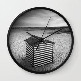 Beach Huts, Great Yarmouth Wall Clock