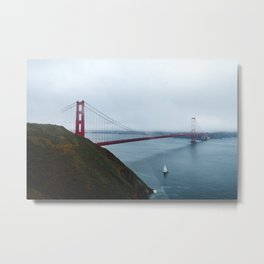 Foggy Golden Gate Bridge - San Francisco, CA Metal Print