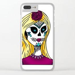 Dia De Los Muertos 3 Clear iPhone Case