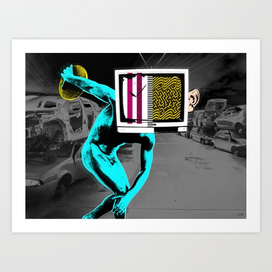 Diskus TV 4 Art Print