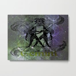 Gemini Astrology Metal Print