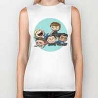 cyrilliart Biker Tanks featuring Cutie Pile by Cyrilliart