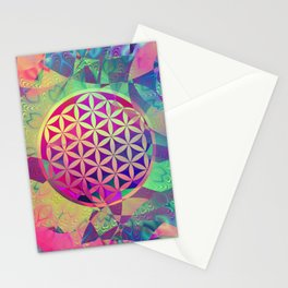 Flower Of Life (Midst Of Abstraction) Stationery Cards