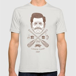 Ron Swanson Canoe Camp (dirty brown variant) T-shirt