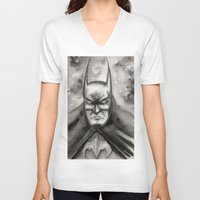 bat V-neck T-shirts featuring Bat by rchaem