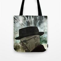 chemistry Tote Bags featuring Chemistry by ktubalcain