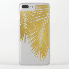 Palm Leaf Gold II Clear iPhone Case