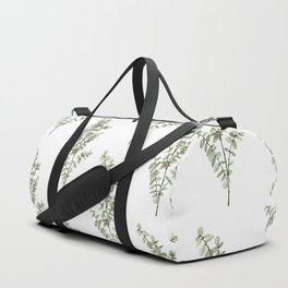 Baby Blue Eucalyptus Watercolor Painting Duffle Bag