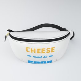 Cheese Wine and Friends Must be Old to be Good Fanny Pack