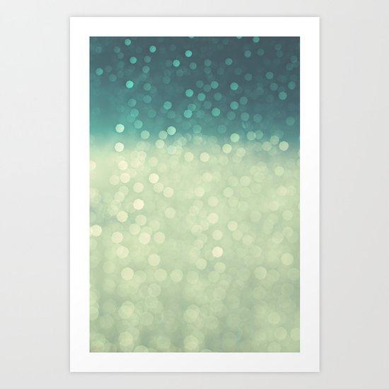 rain bokeh Art Print