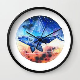 Galactic Whales Wall Clock
