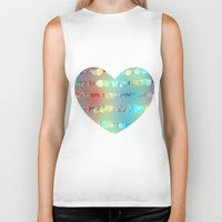sparkle Biker Tanks featuring Sparkle emotions by SensualPatterns