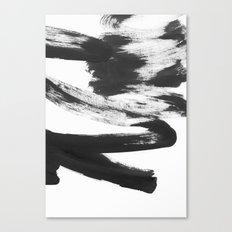 b+w strokes 5 Canvas Print