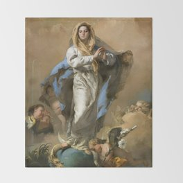 The Immaculate Conception by Giovanni Battista Tiepolo (c 1768) Throw Blanket