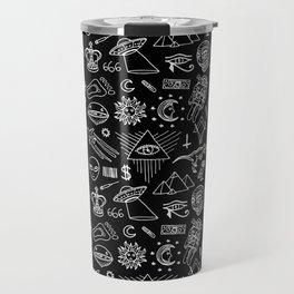 Conspiracy pattern (Censored version) Travel Mug