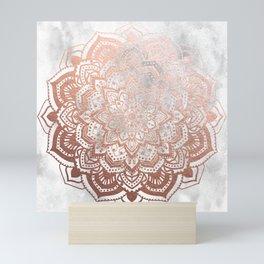 ROSE GOLD MANDALA Mini Art Print