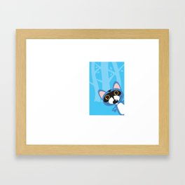 The famous Blue Racoon. Framed Art Print