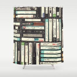 Cassettes Shower Curtain
