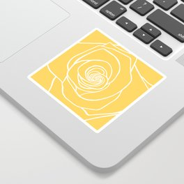 Sunshine Yellow Rose Drawing Sticker