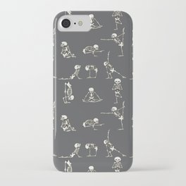 Skeleton Yoga_Gray iPhone Case