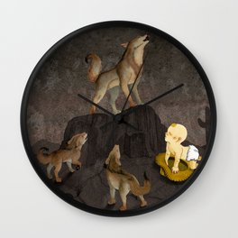 Teaching the Pups Wall Clock