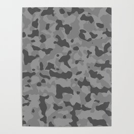 Camouflage Gray Poster