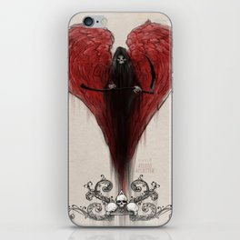 Love Kills; or at least makes you very uncomfortable iPhone Skin