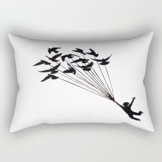 Children Fly Pigeon Rectangular Pillow