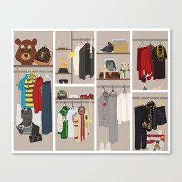 Yeezy's Closet Canvas Print