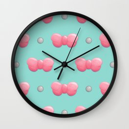 Miss Ribbon Wall Clock