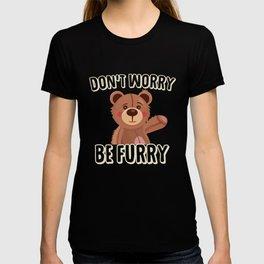 Furry bear is funny T-shirt