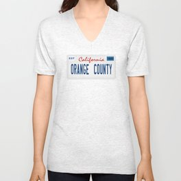 Orange County - California.  Unisex V-Neck