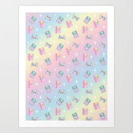 Magical Girl Gaming Rainbow Art Print