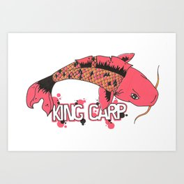 King Carpa  Art Print