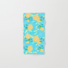 06 Yellow Blooms on Blue Hand & Bath Towel